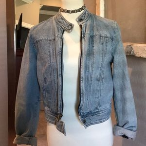denim motto jacket